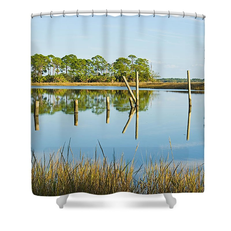 Water Shower Curtain featuring the photograph Refelctions by Terry Wieckert