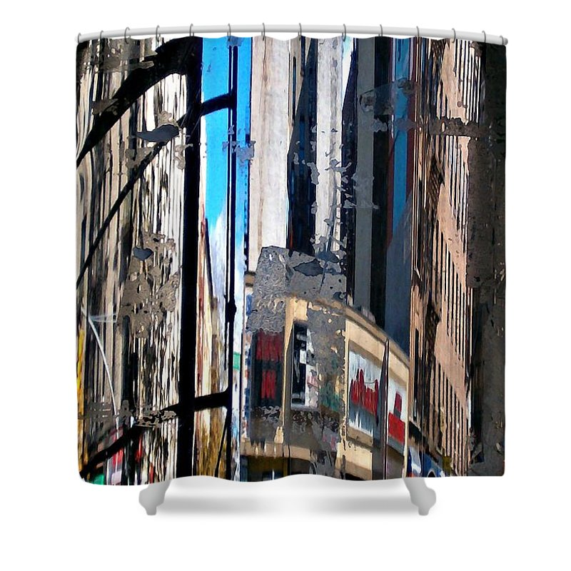 Reflected City Shower Curtain featuring the photograph Reflected City by Sarah Loft