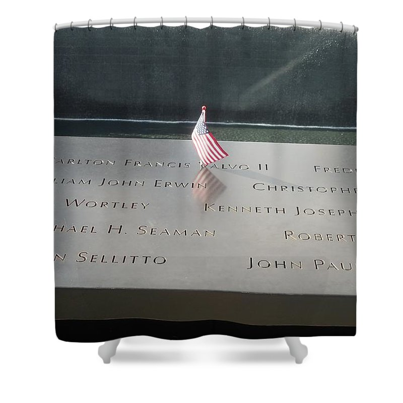 911 Shower Curtain featuring the photograph Reflecting Pool by Mike Niday