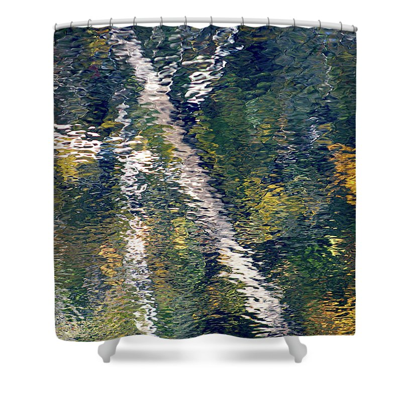 Vangogh Inspired Shower Curtain featuring the photograph Reflection 8180 H_2 by Steven Ward