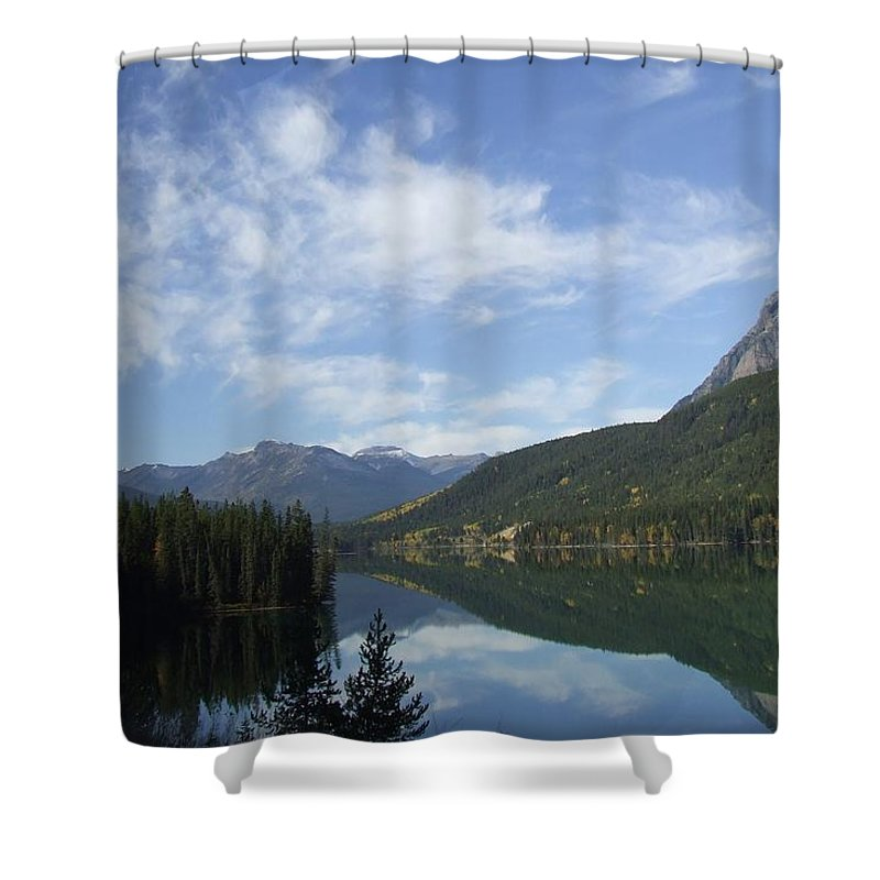 Reflection Shower Curtain featuring the photograph Lake Reflection by Tiffany Vest
