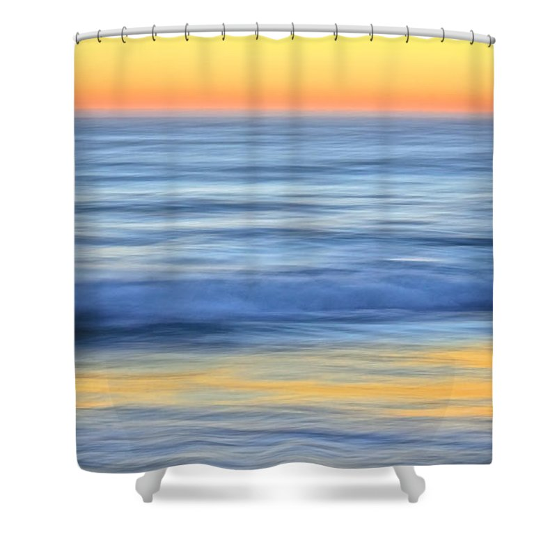 Nature Shower Curtain featuring the photograph Reflection Gold by Zayne Diamond Photographic