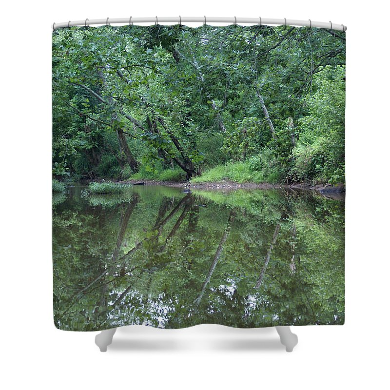 Water Shower Curtain featuring the photograph Reflection by Heidi Poulin