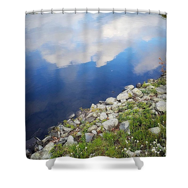 Lake Shower Curtain featuring the photograph Reflection by Jo Stone