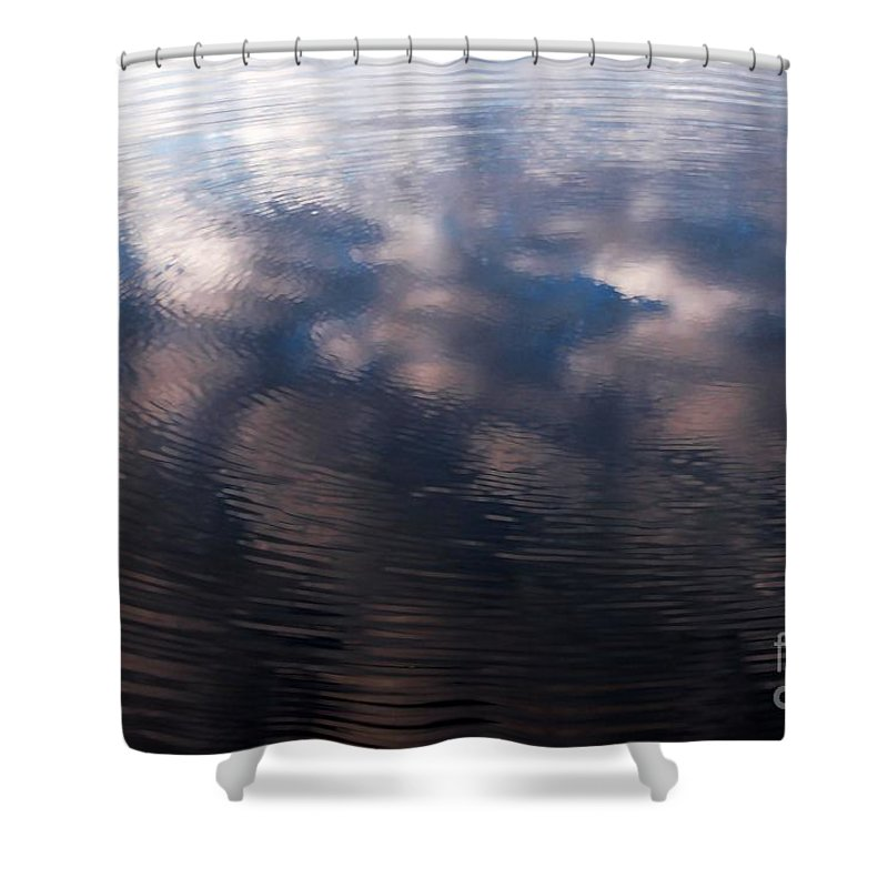 Water Shower Curtain featuring the photograph Reflection Ring by Penny Haviland
