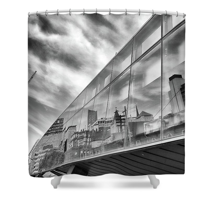 Ago Shower Curtain featuring the photograph Reflections, Art Gallery Of Ontario, Toronto by Eric Drumm