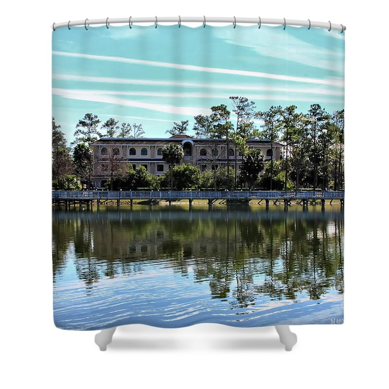 Lake Shower Curtain featuring the photograph Reflections At The Lake by Deborah Benoit