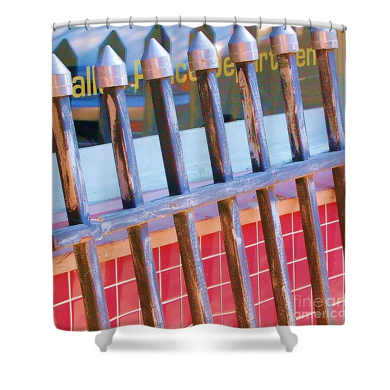 Gate Shower Curtain featuring the photograph Reflections by Debbi Granruth