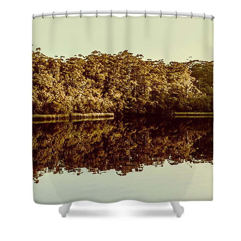 Reflection Shower Curtain featuring the photograph Reflections From Cockle Creek by Jorgo Photography - Wall Art Gallery
