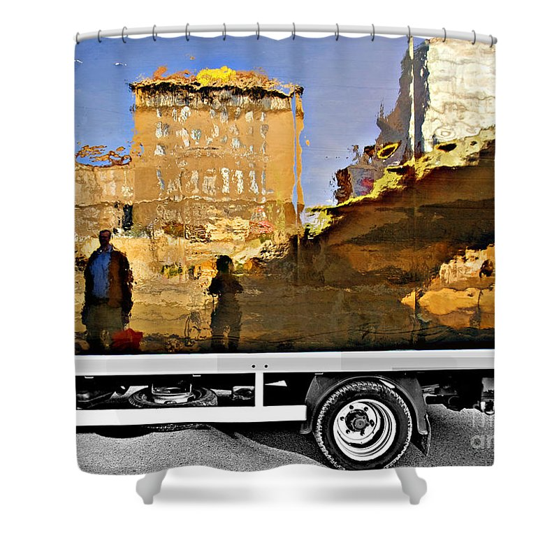 Reflection Shower Curtain featuring the photograph Reflections In Budapest by Madeline Ellis