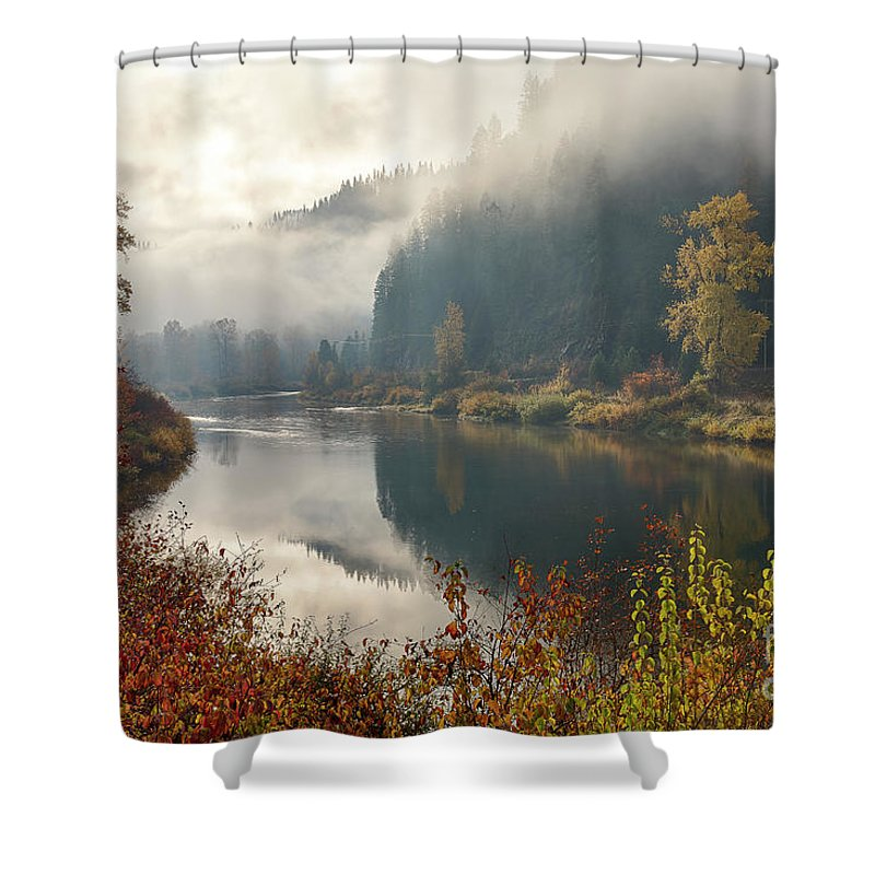 Calder Shower Curtain featuring the photograph Reflections In The Joe by Idaho Scenic Images Linda Lantzy