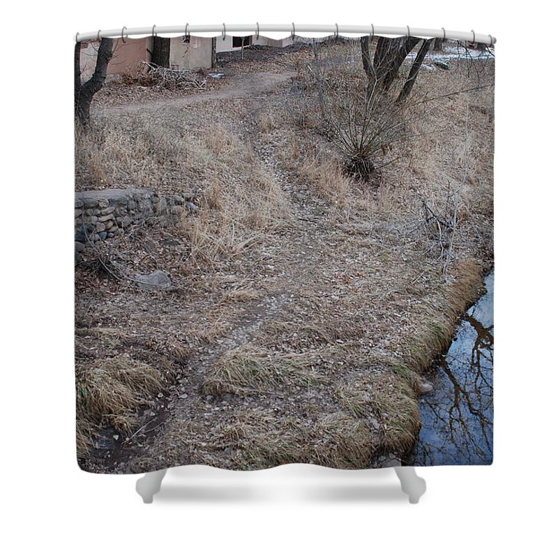 Water Shower Curtain featuring the photograph Reflections In The River by Rob Hans