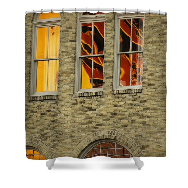 Urban Shower Curtain featuring the photograph Reflections by Jill Reger