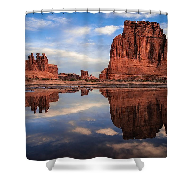 Amaizing Shower Curtain featuring the photograph Reflections Of Organ by Edgars Erglis