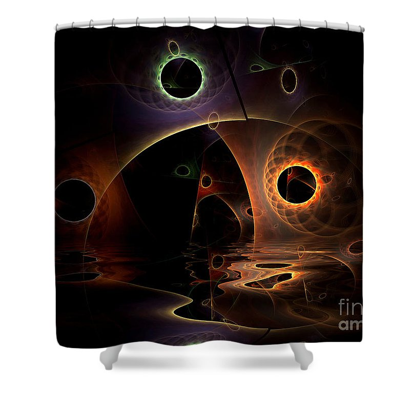 Digital Shower Curtain featuring the digital art Reflections Of The Mind by Deborah Benoit