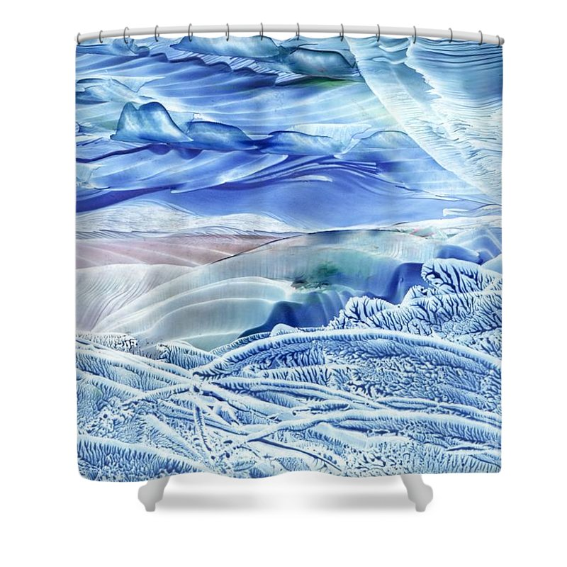 Wax Shower Curtain featuring the painting Reflections Of The Moon by Shelley Jones