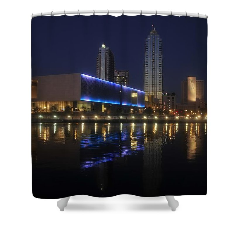 Tampa Florida Shower Curtain featuring the photograph Reflections on Tampa by David Lee Thompson