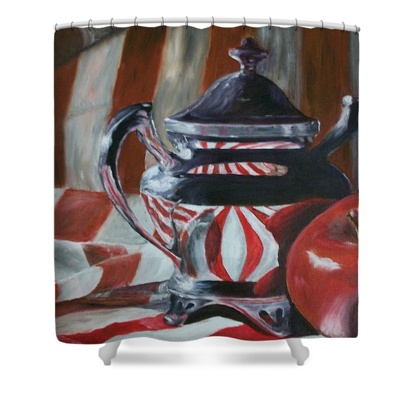 Still Life Shower Curtain featuring the painting Reflections by Stephen King