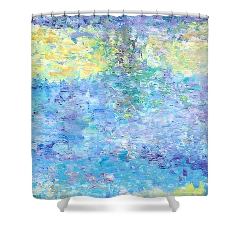 For Sofa Shower Curtain featuring the painting Reflections by Suniti Bhand
