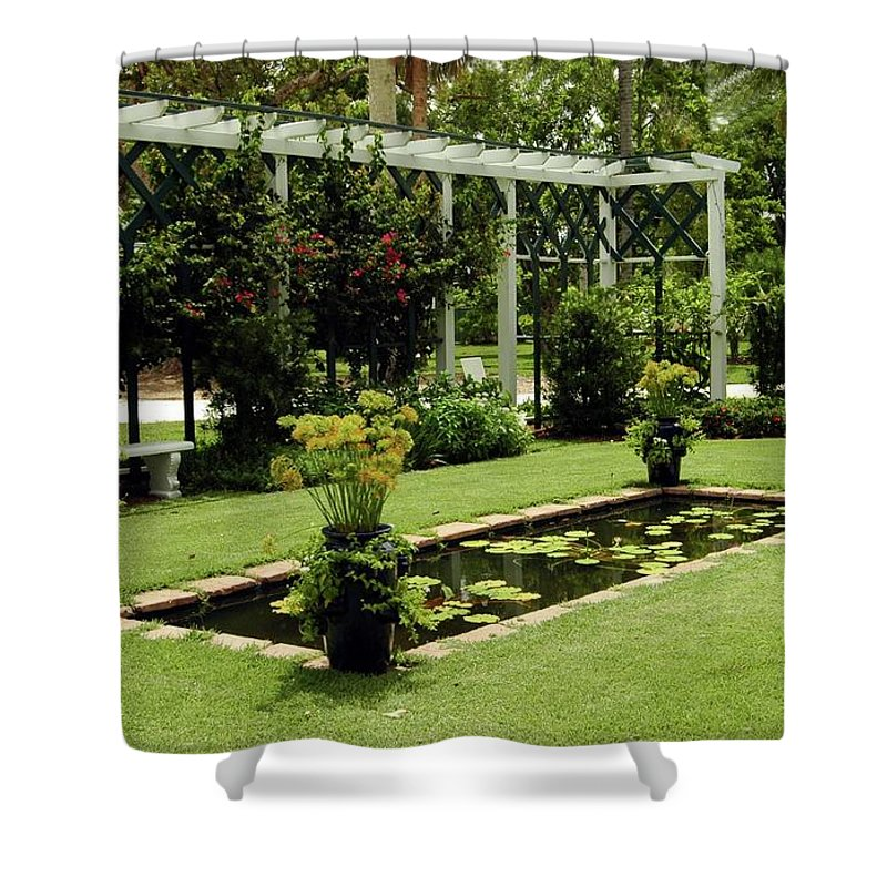 #garde # Shower Curtain featuring the photograph Reflective Pond by Kathleen Struckle