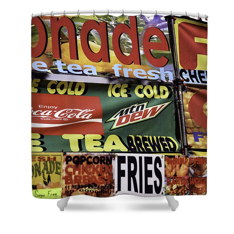Signs Shower Curtain featuring the photograph Refresh by Kelly E Schultz