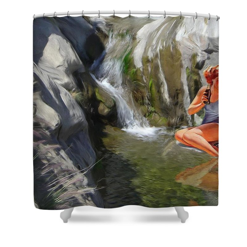 Deserts Shower Curtain featuring the digital art Refreshments by Snake Jagger