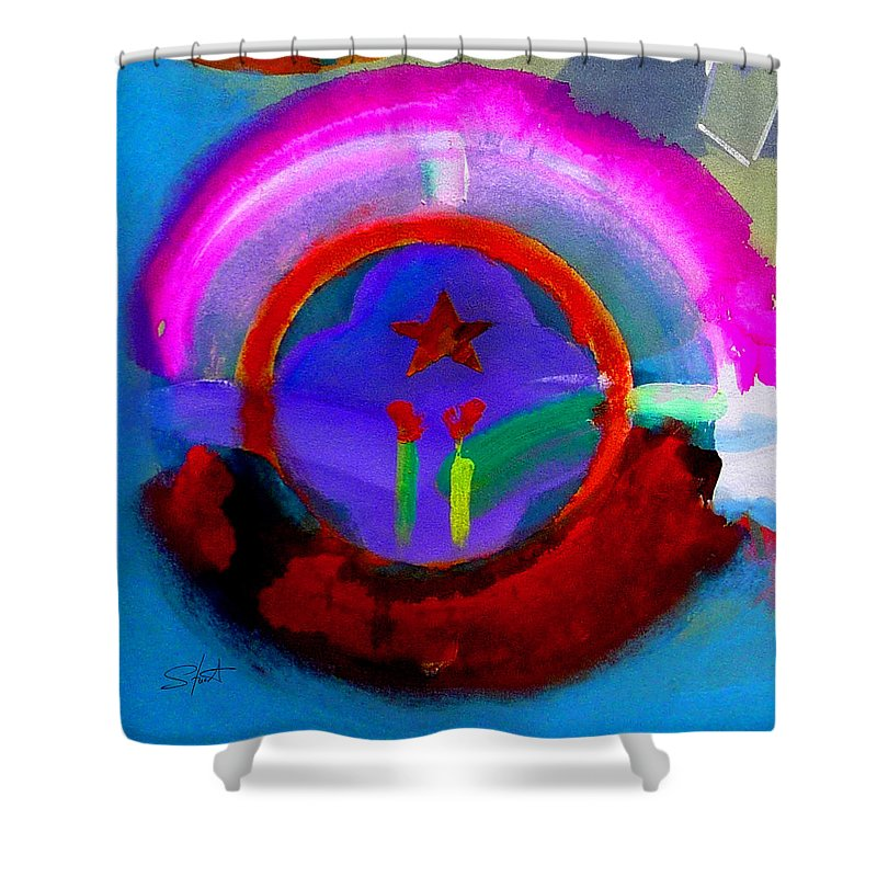 Love Shower Curtain featuring the painting Regeneration by Charles Stuart