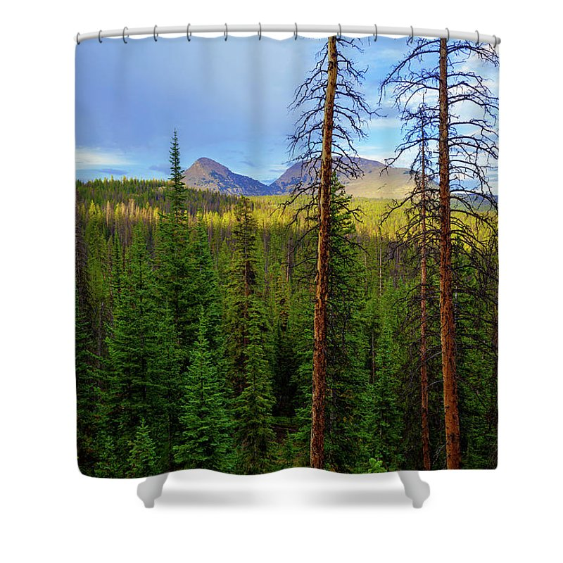 Bald Mountain Shower Curtains