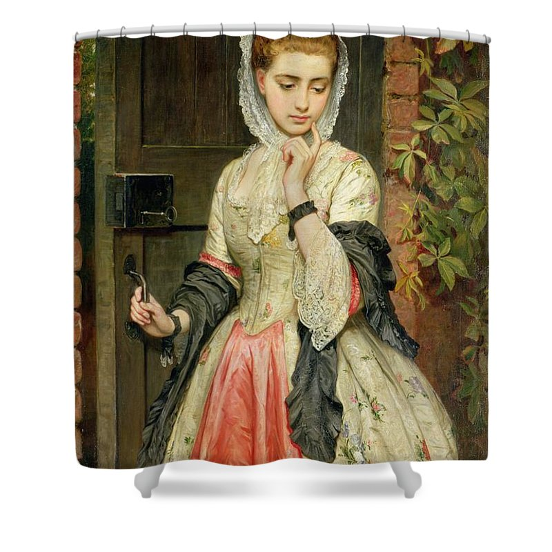 Rejected Shower Curtain featuring the painting Rejected Addresses by Charles Sillem Lidderdale