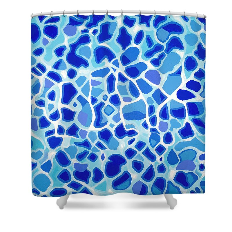 Abstract Shower Curtain featuring the painting Relax by Jaison Cianelli