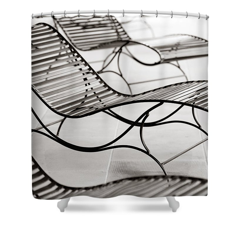 Chair Shower Curtain featuring the photograph Relaxation by Marilyn Hunt