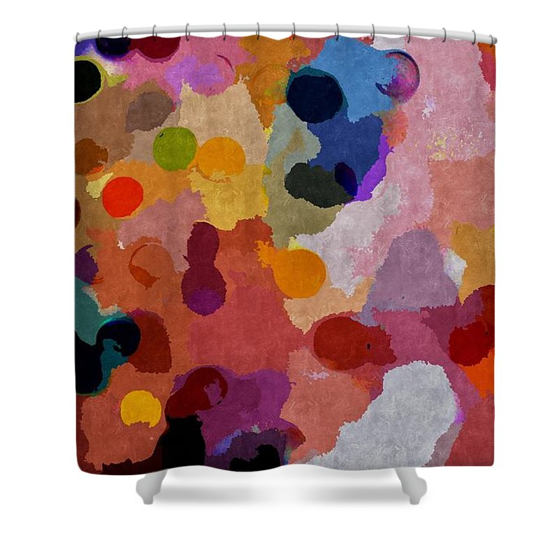 Release Shower Curtain featuring the mixed media Release by Jacqueline McReynolds