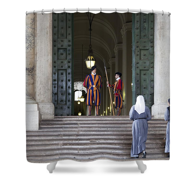 Italy Shower Curtain featuring the photograph Religious Visit by Janet Fikar