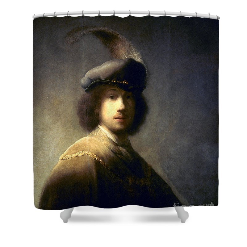 1629 Shower Curtain featuring the photograph Rembrandt Van Rijn by Granger