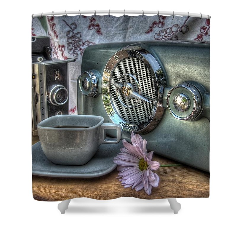 Coffee Shower Curtain featuring the photograph Remember The Past by Jane Linders
