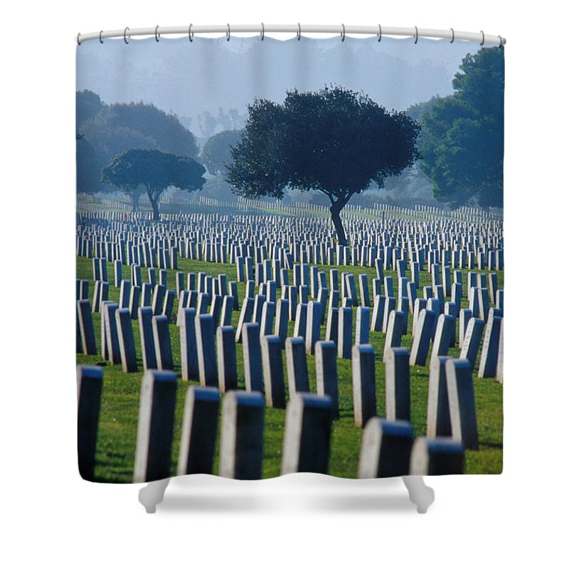 National Cemetery Shower Curtain featuring the photograph Remembering Walt Bem by Jerry McElroy