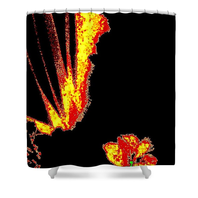 Abstract Shower Curtain featuring the digital art Reminiscence by Will Borden