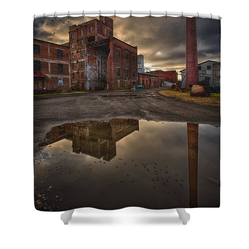 Abandoned Shower Curtain featuring the photograph Remnants Of The Old Starch Factory by Jakub Sisak