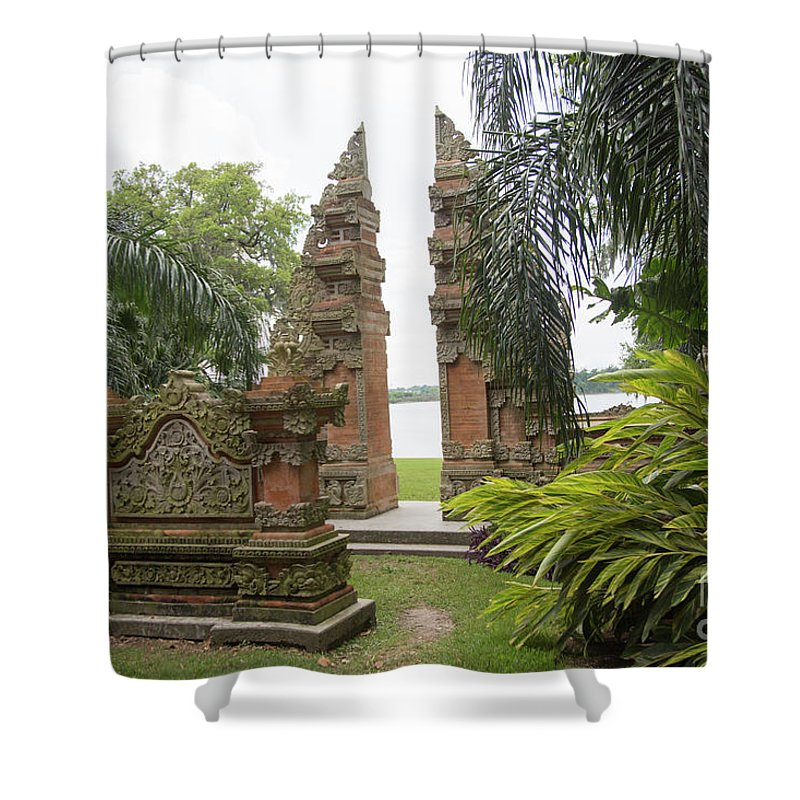 Landscape Shower Curtain featuring the photograph Remnants Of The Past Jefferson Island by Chuck Kuhn