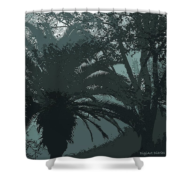 Fog Shower Curtain featuring the digital art Rendezvous In The Fog by DigiArt Diaries by Vicky B Fuller