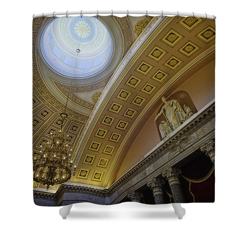 Architecture Shower Curtain featuring the photograph Representative Democracy by Lucinda Walter
