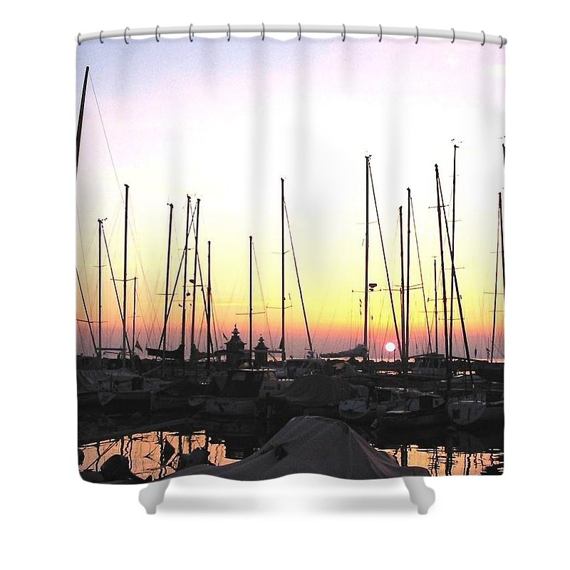 Sea Shower Curtain featuring the photograph Resting Place by Dragica Micki Fortuna