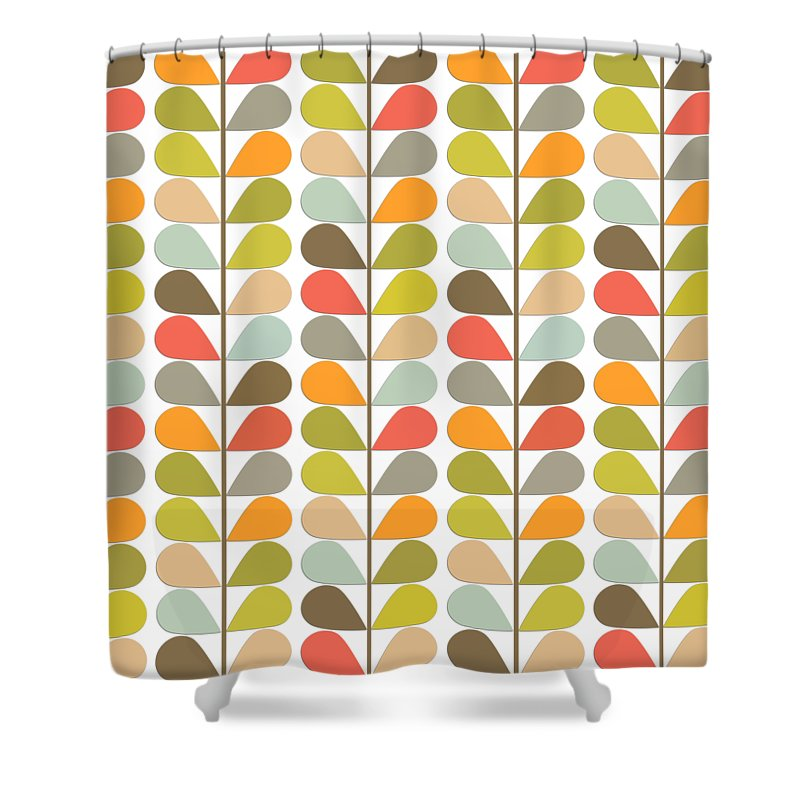 Retro Shower Curtain Featuring The Digital Art 60s Midcentury Modern Pattern By Lea Hollingsworth