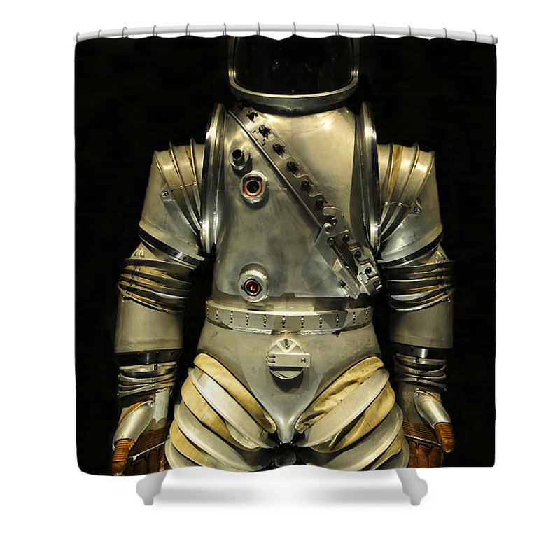 Astronaut Shower Curtain featuring the photograph Retro Astronaut by David Lee Thompson