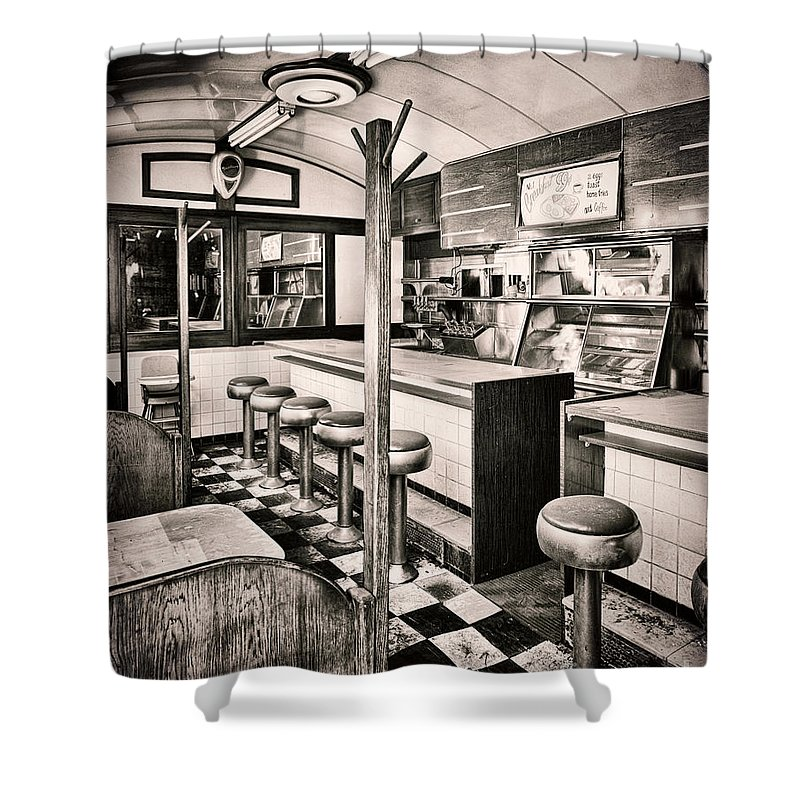 Retro Fifties Diner Shower Curtain For Sale By Mindy Sommers