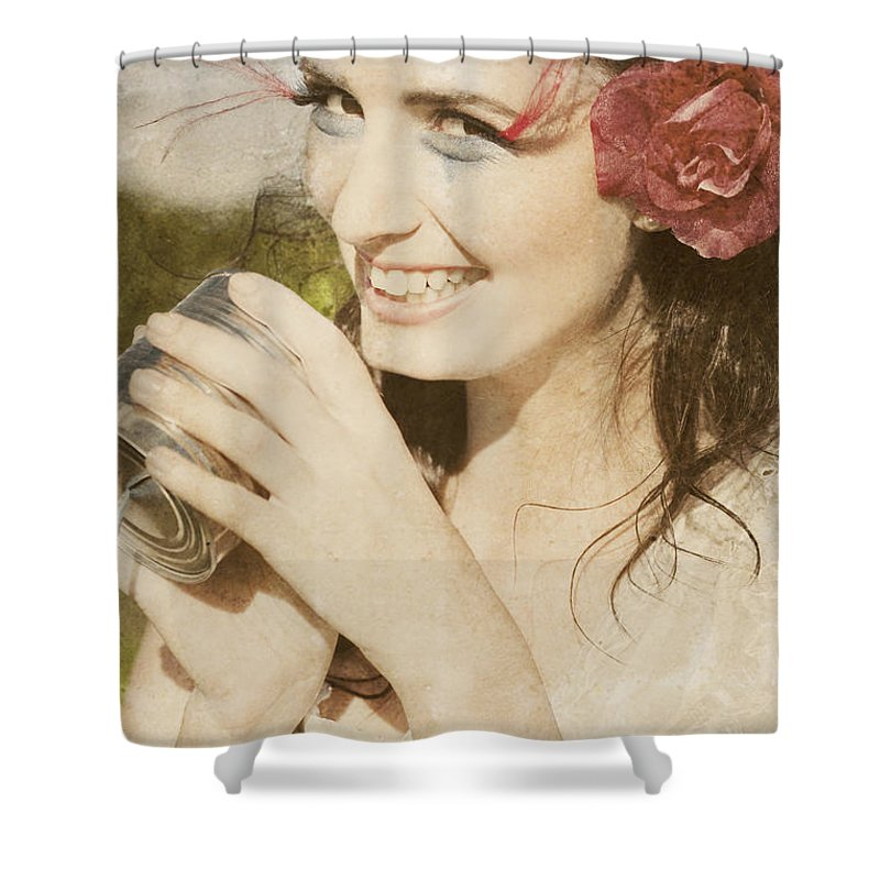 Woman Shower Curtain featuring the photograph Retro Fun by Jorgo Photography - Wall Art Gallery