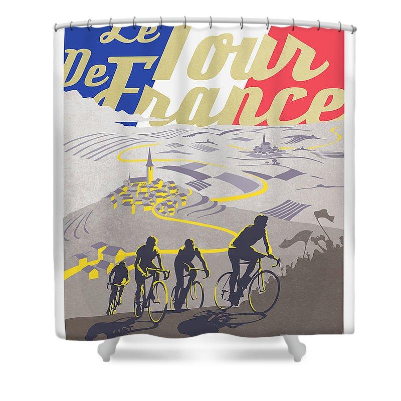 Cyclist Shower Curtains