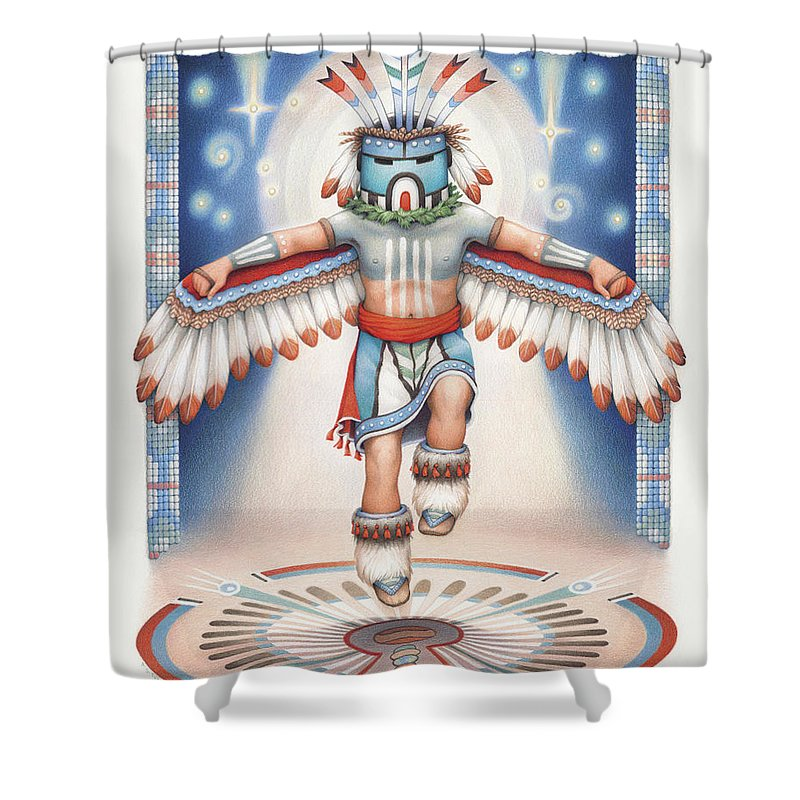 Feather Stars Shower Curtains