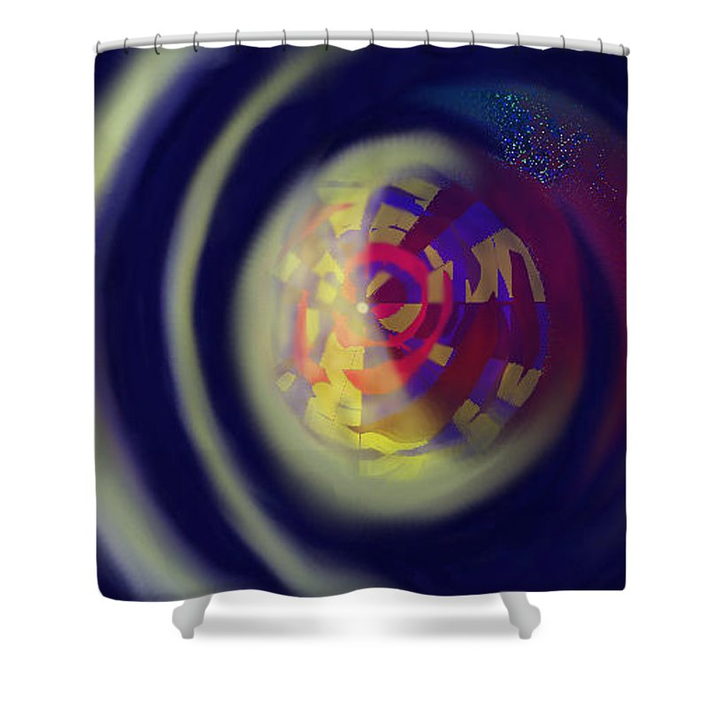 Abstract Shower Curtain featuring the digital art Reverberations by Ian MacDonald