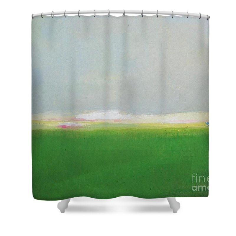 Abstract Shower Curtain featuring the painting Revival by Vesna Antic